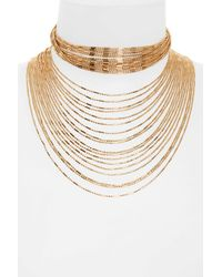 Panacea | Metallic Multistrand Statement Necklace | Lyst