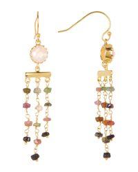 Argento Vivo | Metallic 18k Gold Plated Sterling Silver Drop Rondelle Bead Fringe Earrings | Lyst
