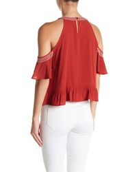 Love, Fire | Cold Shoulder Embroidered Blouse | Lyst