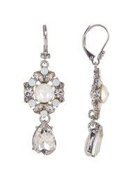 Marchesa - Multicolor Large Drop Earrings - Lyst
