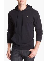 Lacoste - Black Jersey Hoodie for Men - Lyst