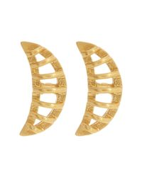 Botkier | Metallic Cage Crescent Stud Earrings | Lyst