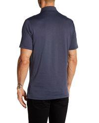 Robert Barakett - Blue Zebulon Micro Polka Dot Short Sleeve Polo for Men - Lyst