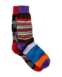 Bugatchi - Blue Printed Socks - Pack Of 2 for Men - Lyst