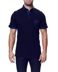 Maceoo - Blue Contemporary Fit Pocket Polo (big & Tall) for Men - Lyst