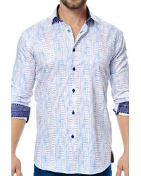 Maceoo - Class White Orange Drive Long Sleeve Regular Fit Dress Shirt for Men - Lyst