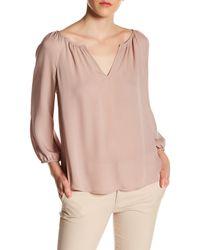 771238c88024b7 Lyst - Joie Priscilla Silk Blouse in Pink