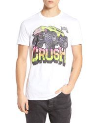 The Rail - White Monster Crush Graphic T-shirt for Men - Lyst