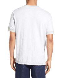 Surfside Supply - White Regular Fit Space Dyed Short Sleeve Henley for Men - Lyst
