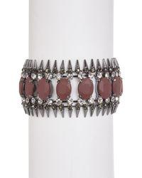 ABS By Allen Schwartz - Metallic Stone & Spike Cuff Bracelet - Lyst