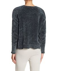 Romeo and Juliet Couture - Gray Crew Neck Chenille Knit Pullover - Lyst