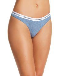 Calvin Klein - Blue Carousel Thong - Lyst