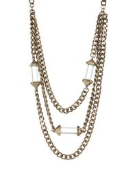 BaubleBar | Metallic Quiqui Chain Bib Necklace | Lyst
