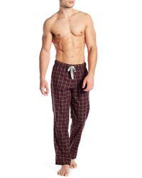 Ugg - Red Flynn Check Print Pajama Pants for Men - Lyst
