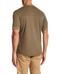 Jack Spade - Multicolor Short Sleeve Linen Henley Tee for Men - Lyst