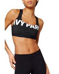 Ivy Park - Black (r) Logo Sports Bra - Lyst