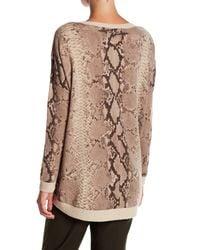 Acrobat | Brown Pattern Hi-lo Pullover | Lyst