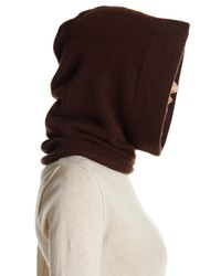 Portolano - Chocolate Brown Cashmere Hood - Lyst