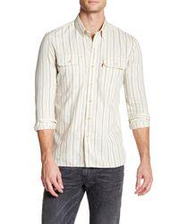 Levi's - White Selvedge Jackson Stripe Long Sleeve Shirt for Men - Lyst