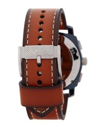 Fossil - Multicolor Men's Machine Chronograph Leather Strap Watch for Men - Lyst