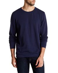 Onia - Blue Owen Crew Neck Sweatshirt for Men - Lyst