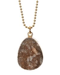 BaubleBar | Metallic Druzy Ball Chain Pendant Necklace | Lyst