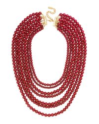 BaubleBar | Red 'bold' Multistrand Beaded Statement Necklace | Lyst