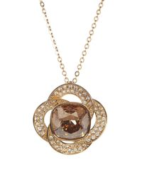 Swarovski - Metallic Agility Crystal Golden Shadow Pendant Necklace - Lyst