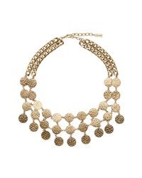 BaubleBar | Metallic Byzantine Bib Necklace | Lyst