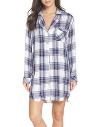 Rails - Blue Sleep Shirt - Lyst