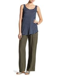 Allen Allen - Multicolor Long Linen Pants - Lyst