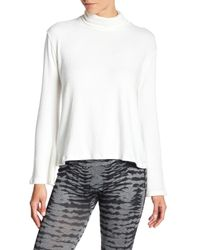 Go Couture - White Lace Back Mock Neck Sweater - Lyst