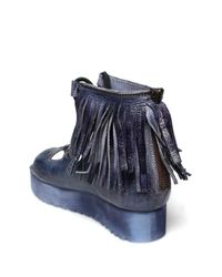 Bed Stu - Blue Madison Fringe Platform Sandal - Lyst