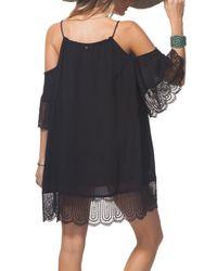 Rip Curl - Black Badlands Cold Shoulder Dress - Lyst