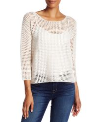 360cashmere   White Kara Knit Cashmere Pullover   Lyst