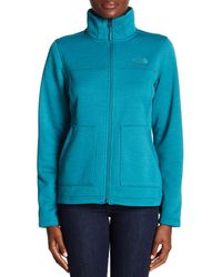 The North Face - Blue Wakerly Fleece Full Zip Jacket - Lyst