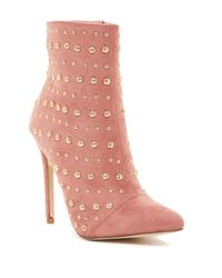 Elegant Footwear - Pink Brissa Studded Pointed Toe Boot - Lyst