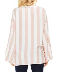 Two By Vince Camuto - Multicolor Bell Sleeve Top - Lyst