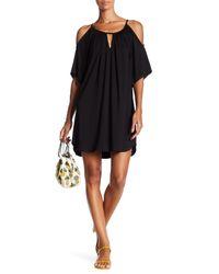 Fifteen Twenty | Black Cold Shoulder Keyhole Dress | Lyst