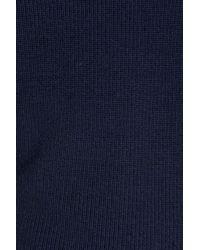 RODD AND GUNN - Blue Charlesworth Suede Patch Merino Wool Sweater for Men - Lyst
