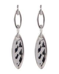 Judith Jack | Metallic Crystal & Marcasite Detail Hammered Marquise Drop Earrings | Lyst