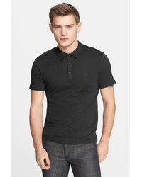 Versace - Black 'medusa' Polo for Men - Lyst