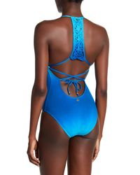 Nanette Lepore - Blue Solola Goddess Dip-dye One-piece Swimsuit - Lyst