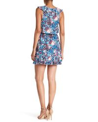 Parker - Blue Sleeveless Print Dress - Lyst