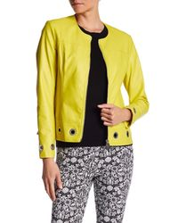 Insight - Yellow Faux Leather Grommet Jacket - Lyst