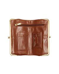 Hobo - Red Lauren Leather Wallet - Lyst