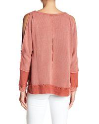 ANAMÁ - Pink Distressed Hem Sweater - Lyst