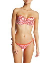 Seafolly | Multicolor Tidal Wave Bustier Bandeau Bikini Top | Lyst