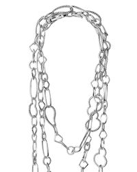 Lagos - Metallic Sterling Silver Mixed Link Long Necklace - Lyst