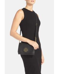 Tory Burch - Black 'britten' Leather Crossbody Bag - Lyst